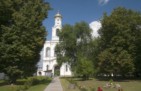 Yuriev Monastery  The bell tower  Veliky Novgorod photo