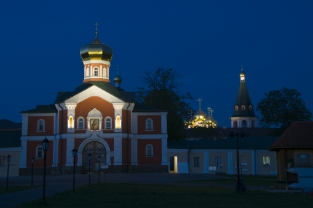 Holy Gates with Gate Church of St. Philip. Valday Iversky Monastery photo