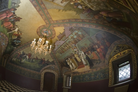 Interior Volkov-Yusupov Palace in Moscow  Hunting Hall Editorial