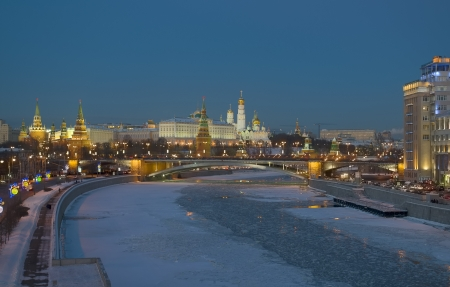 Moscow, Kremlin, winter evening Stock Photo - 17776739
