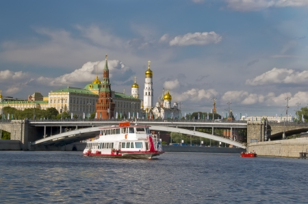 Moscow Kremlin, Moscow river, Russia photo