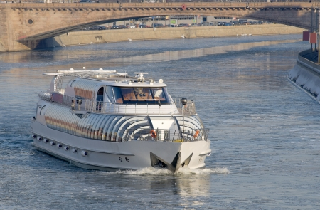 Winter Cruise. Winter navigation on Moscow River photo