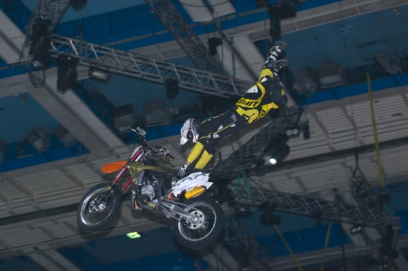 Vanni Oddera on at the VI festival of extreme sports in the Olympic Sports Complex Moscow, Russia, on March 2, 2013