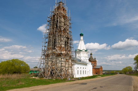 boyar: The Church of the Holy Great Martyr Nikita, built in the second half of the XVI century in the village of Boyar Elizarovo Pereslavskiy District, Yaroslavl region, Russia Stock Photo
