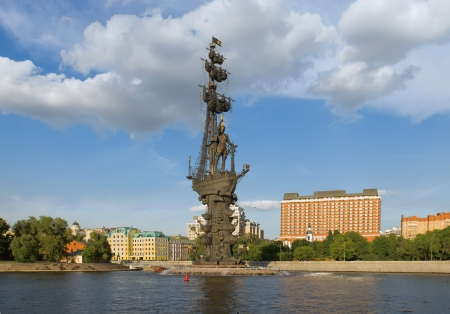 The monument to Czar Peter the Great in Moscow, landmark