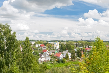 dome type: City Torzhok, Tver region. View of the city and river Tvertsa Stock Photo