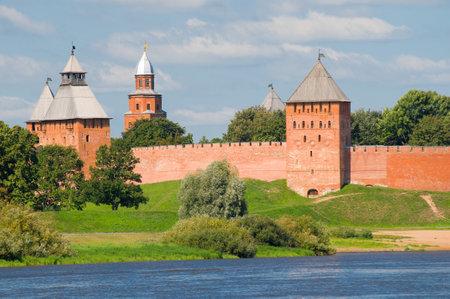 novgorod: Towers of Novgorod Kremlin in Veliky Novgorod, Russia