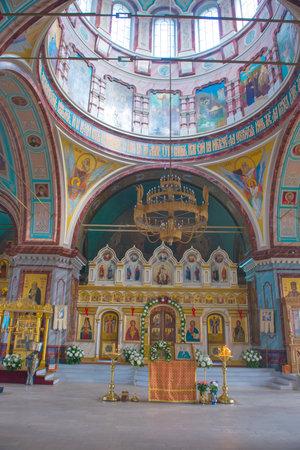 Interior of the Orthodox Church of the Beheading of John the Baptists head (1904), Zaraysk kremlin, Moscow region