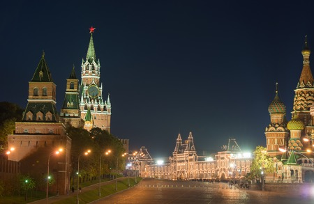 Moscow, Red Square, night photo