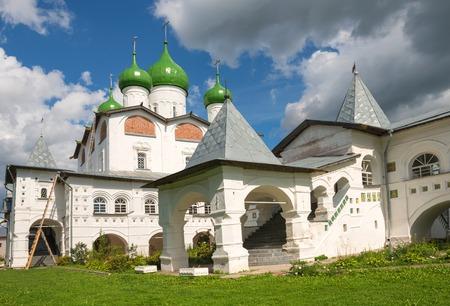 st nicholas: Nicholas Cathedral St. Nicholas Vyazhischskogo nunnery. Novgorod region, village Vyazhischi, Russia