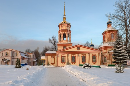 exaltation: Manor Altufievo, the temple of the Exaltation of the Holy Cross. Winter, Moscow Stock Photo