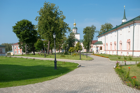 narrowing: The Valdai Iver Svyatoozersky Virgin Monastery. Church of the Epiphany with a refectory 1657-59