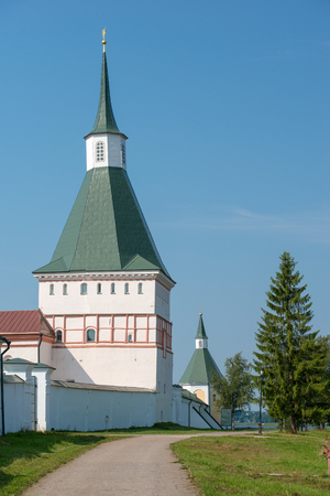 narrowing: The Valdai Iver Svyatoozersky Virgin Monastery. Nikon (typographic) TOWER 2 POL. XVII