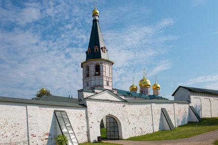 narrowing: The Valdai Iver Svyatoozersky Virgin Monastery. BELL TOWER XVII