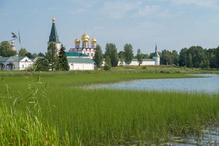 narrowing: The Valdai Iver Svyatoozersky Virgin Monastery. Iversky Cathedral 1655-56
