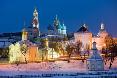 sacred trinity: Sergiev Posad, the views of the Holy Trinity St. Sergius Lavra. Russia Stock Photo