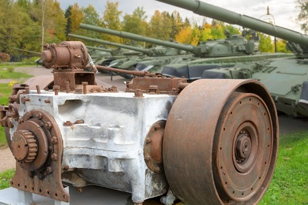inoperative: Transmission of the old Soviet tank