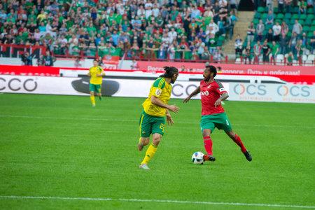 kuban: MOSCOW - MAY 11, 2016: Midfielder Manuel Fernandes (4) on the soccer game Russian Premier League Lokomotiv (Moscow) vs Kuban (Krasnodar), the stadium Lokomotiv Moscow, Russia. Lokomotiv lost 0: 1 Editorial