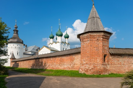 veliky: Summer view of medieval the Kremlin in Rostov the Great as part of The Golden Rings group of medieval towns of the northeast of Moscow, Russia. Editorial