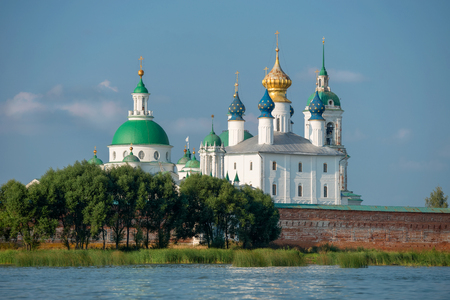 Rostov the Great, Spaso-Yakovlevsky Dmitriev monastery, The Cathedral Of The Conception Of Anne. Summer view from the Nero lake Editorial