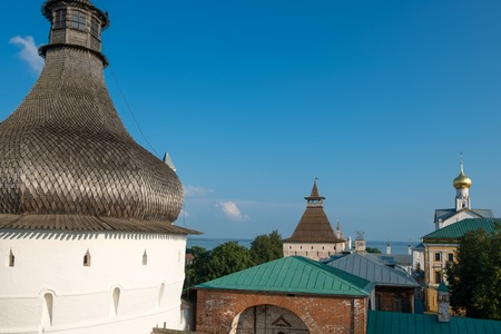 Summer view of medieval the Kremlin in Rostov the Great as part of The Golden Rings group of medieval towns of the northeast of Moscow, Russia. Editorial