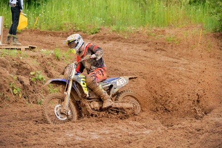 MOSCOW, RUSSIA - JULY 1, 2017: 461 Maksimushkin Daniel (Moscow, Rumaniacs) OPEN class-ABCD, in the Velyaminovo Race Weekend 2017, Motopark Velyaminovo, Istrinsky district Editorial