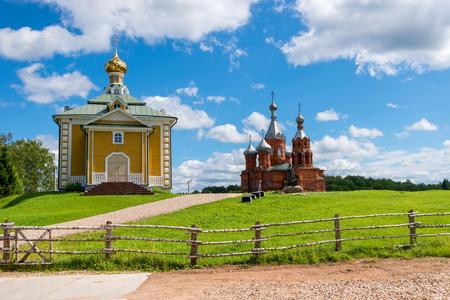 Volgoverkhovye Olginsky convent. The Nikolsky Temple. Tver Region. Source Volga river Archivio Fotografico