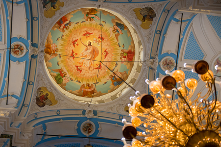 ISTRA, RUSSIA - JANUARY 3, 2017: the Dome of the Voskresensky New-Jerusalem Stavropegial male monastery, Istra, Moscow region