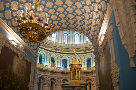 ISTRA, RUSSIA - JANUARY 3, 2017: The interior of the Voskresensky New-Jerusalem Stavropegial male monastery, Istra, Moscow region