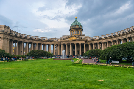 RUSSIA, SAINT PETERSBURG: View of the Kazan Cathedral (Kazanskiy Kafedralniy Sobor) in Saint Petersburg. The construction was started in 1801 and continued for 10 years.