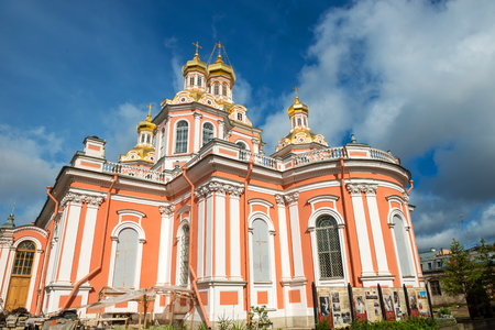RUSSIA, SAINT PETERSBURG - AUGUST 18, 2017:  Holy Cross Cossack Cathedral Editorial