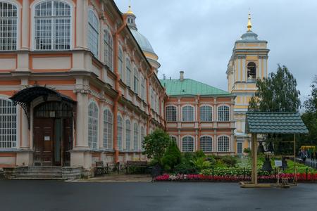 RUSSIA, SAINT PETERSBURG: Flower garden the Holy spirit the corps of Alexander Nevsky Lavra