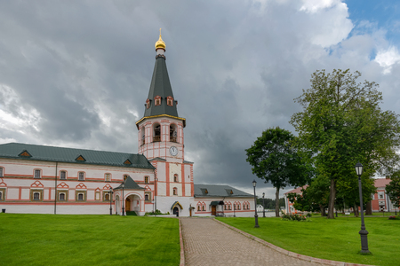 The Valdai Iversky Svyatoozersky Bogoroditsky Monastery. The Rectors Corps with the bell tower