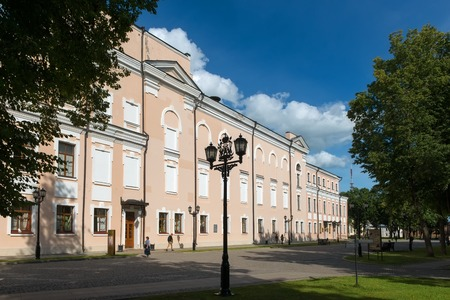 VELIKY NOVGOROD, RUSSIA - AUGUST 14, 2018: The building of the Novgorod Regional Philharmonic in the Novgorod Kremlin on a summer day Redakční