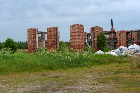 Ruins of buildings at the Sergievsky monastery on the island of Muksalm, Solovki islands, Arkhangelsk region, Russia Reklamní fotografie