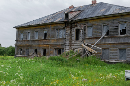 An old dairy farm building. Sergievsky skete. Muksalma Island. Solovetsky archipelago, White Sea Coast, Russia