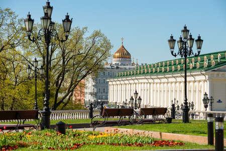 Spring day on Manezhnaya Square