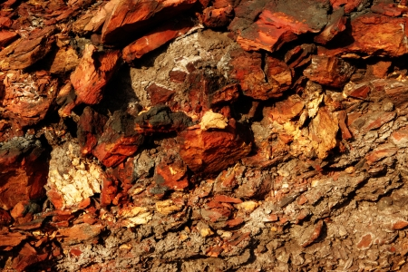 Red stones, rocks sunset light terikon october Stock Photo - 15626086