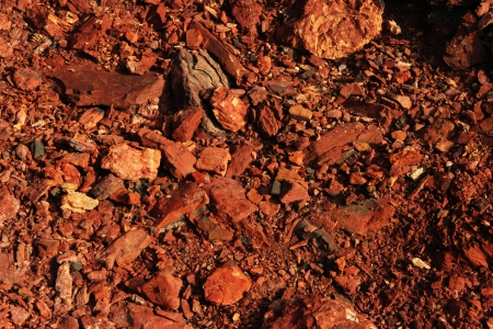 Red stones, rocks sunset light terikon october Stock Photo - 15626083