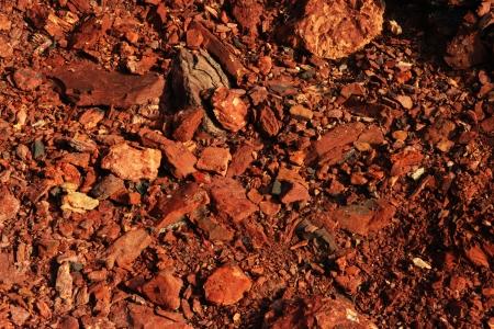 Red stones, rocks sunset light terikon october Stock Photo - 15626083