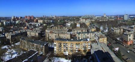 Pnorama of Donetsk Ukrain in winter, snow,  2010