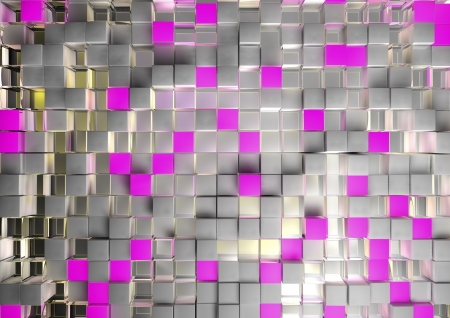 abstract image of cubes background in pink toned Stock Photo - 17562075