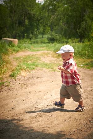 Adorable Toddler Boy Run Boy Stock Image Stock Photo