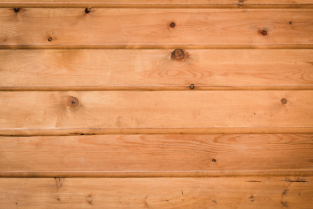 Background from wooden lining boards with wood defects