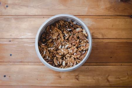 barrel of shelled walnuts