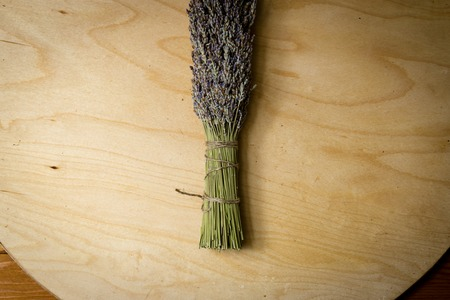 bundle of dried lavender