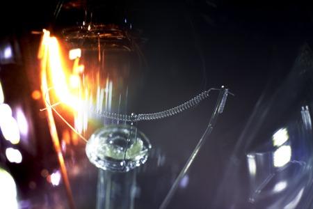 spiral filament light going on