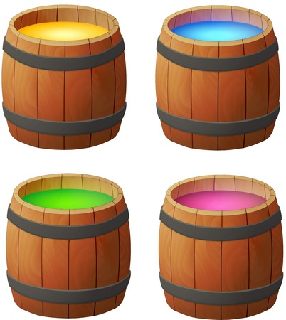 Barrels of honey, wine and magic potions. For bear, witches, and people