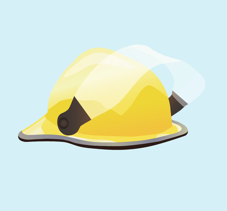 Helmet for fireman and builder illustration on light background. Illustration