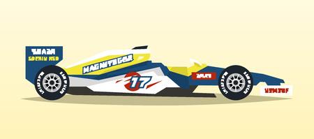 A racing bolid. Sport car. Quick transport.